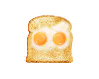 Fried egg with toast Stock Photo