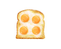Fried egg with toast Stock Photos