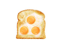 Fried egg with toast Royalty Free Stock Photos