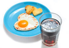 Fried egg and toast Stock Photo