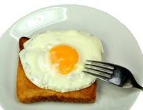 Fried egg on toast Stock Photography