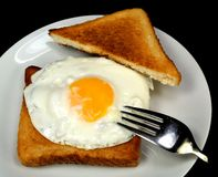 Fried egg with toast Royalty Free Stock Photography