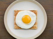 Fried Egg on Toast Stock Photos