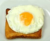 Fried egg on toast Stock Photography