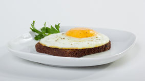 Fried egg on toast Royalty Free Stock Images