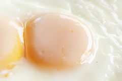 Fried egg. Two fried egg with light Royalty Free Stock Photography