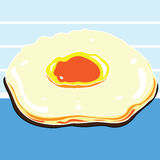 Fried Egg Vector Fotografía de archivo libre de regalías