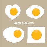 Fried Egg Vector Concepto de la buena mañana Imágenes de archivo libres de regalías