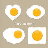 Fried Egg vector . good morning concept. Royalty Free Stock Images