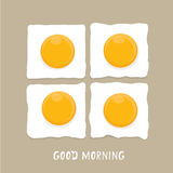 Fried Egg vector . good morning concept. Royalty Free Stock Image
