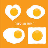 Fried Egg vector . good morning concept. Royalty Free Stock Photo