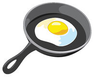 Fried Egg Vector Royalty Free Stock Images