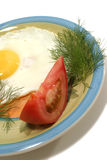 Fried egg and vegetable Royalty Free Stock Image