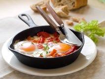 Fried egg with vegetable (shakshuka) Stock Image
