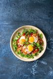 Fried egg with vegetables Stock Image