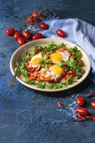 Fried egg with vegetables Royalty Free Stock Image