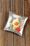 Fried egg and white bread Royalty Free Stock Photo