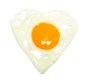 Fried egg on white Royalty Free Stock Photos