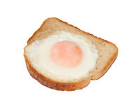Fried Egg in White Toast Stock Photography