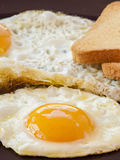 Fried egg and white toast Stock Photography