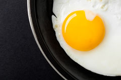 Fried Egg Yolk Royalty Free Stock Photos