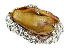 Fried eggplant in foil Stock Images