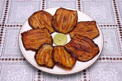 Fried Eggplant, lebanese food. Royalty Free Stock Photography