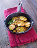 Fried eggplant Royalty Free Stock Photos