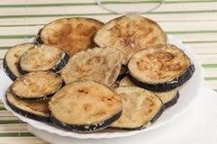 Fried Eggplant serie 04 Arkivfoto