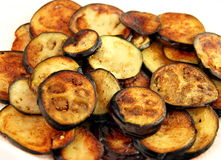 Fried Eggplants Royalty Free Stock Photography
