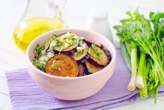 Fried eggplants Stock Image