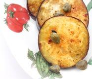 Fried Eggplants Stock Photo
