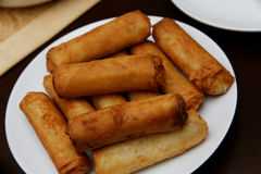 Fried Eggrolls Royalty Free Stock Photos