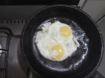 Fried Eggs Fotos de archivo libres de regalías
