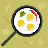Fried Eggs royalty free illustration