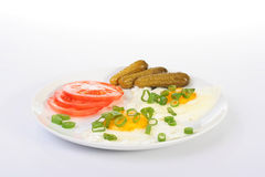 Fried eggs Stock Photography