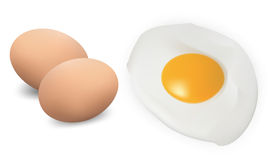 Fried eggs. Royalty Free Stock Image
