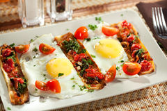 Fried Eggs Lizenzfreies Stockfoto