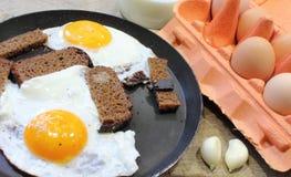 Fried Eggs imagem de stock royalty free