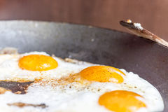 Fried Eggs Fotografie Stock