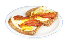 Fried eggs with bacon. Royalty Free Stock Photo