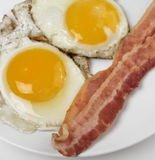 Fried Eggs And Bacon Stockbilder
