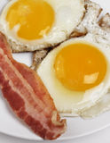 Fried Eggs And Bacon Lizenzfreies Stockfoto