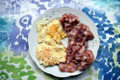 Fried Eggs And Bacon images libres de droits