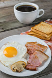 Fried Eggs And Bacon Royaltyfria Bilder