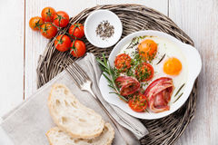 Fried eggs and bacon Royalty Free Stock Image