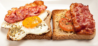 fried eggs and bacon Stock Images
