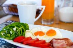 Fried eggs breakfast Stock Photo