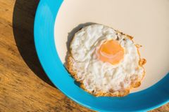 Fried eggs breakfast cooked Stock Photos