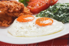 Fried eggs for breakfast Royalty Free Stock Photo